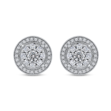 Load image into Gallery viewer, Round Diamond Fashion Stud Earrings Luminous EA0729T-42W