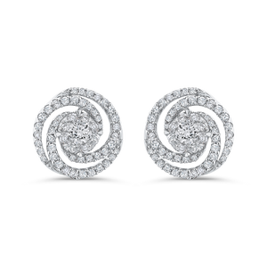Diamond Swirl Fashion Earrings Luminous EA0759T-42W