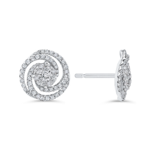 Load image into Gallery viewer, Diamond Swirl Fashion Earrings Luminous EA0759T-42W