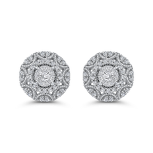 Load image into Gallery viewer, Diamond Fashion Cluster Stud Earrings Luminous EA0829T-42W