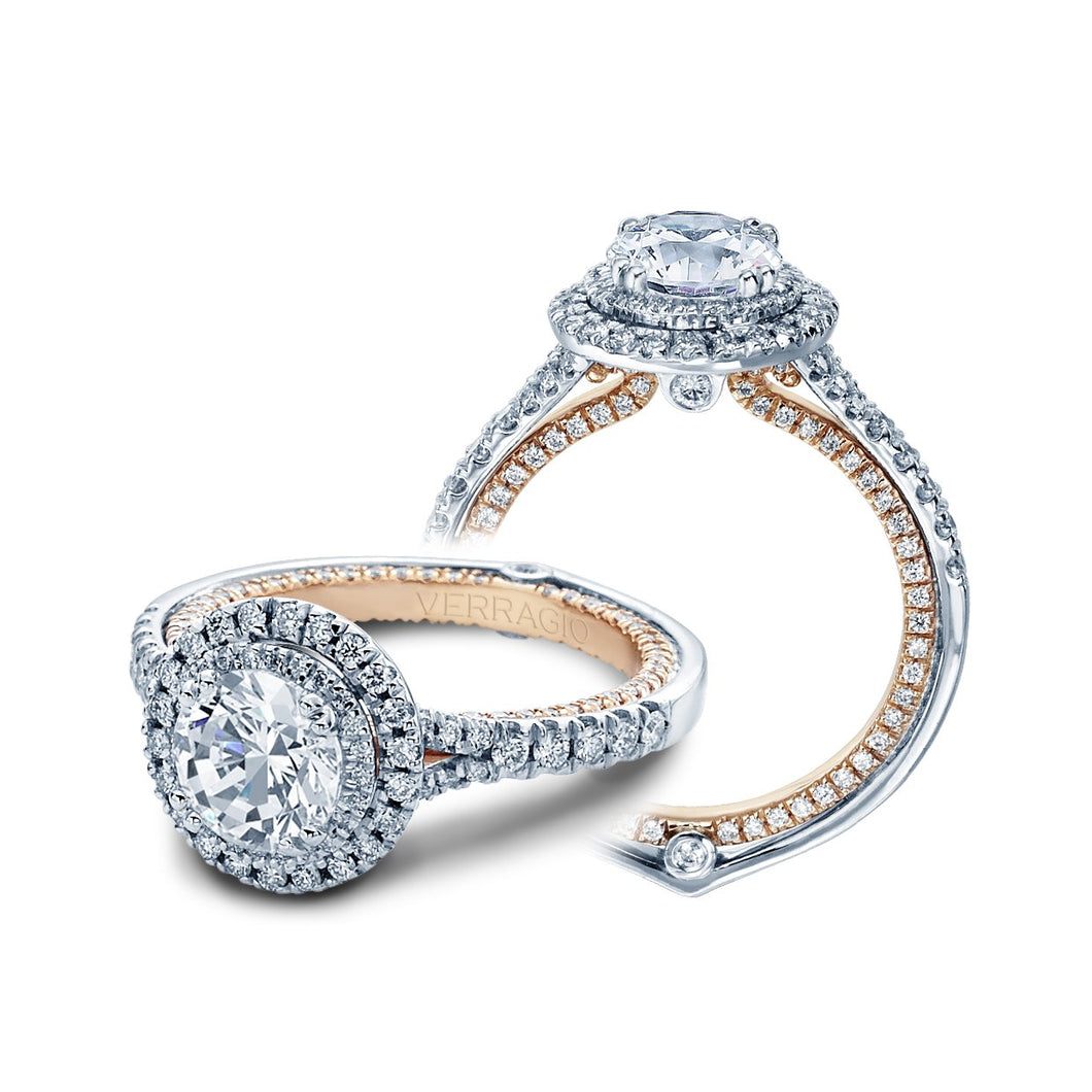 ENG-0425DR-2T - Verragio - 14K 0.75ctw Semi- Mount Engagement Ring