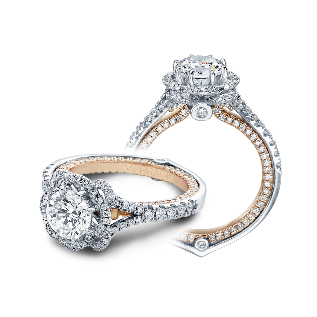 Verragio Couture Collection – ENG-0426DR-2T Style Diamond Engagement Mounting 0.75TW