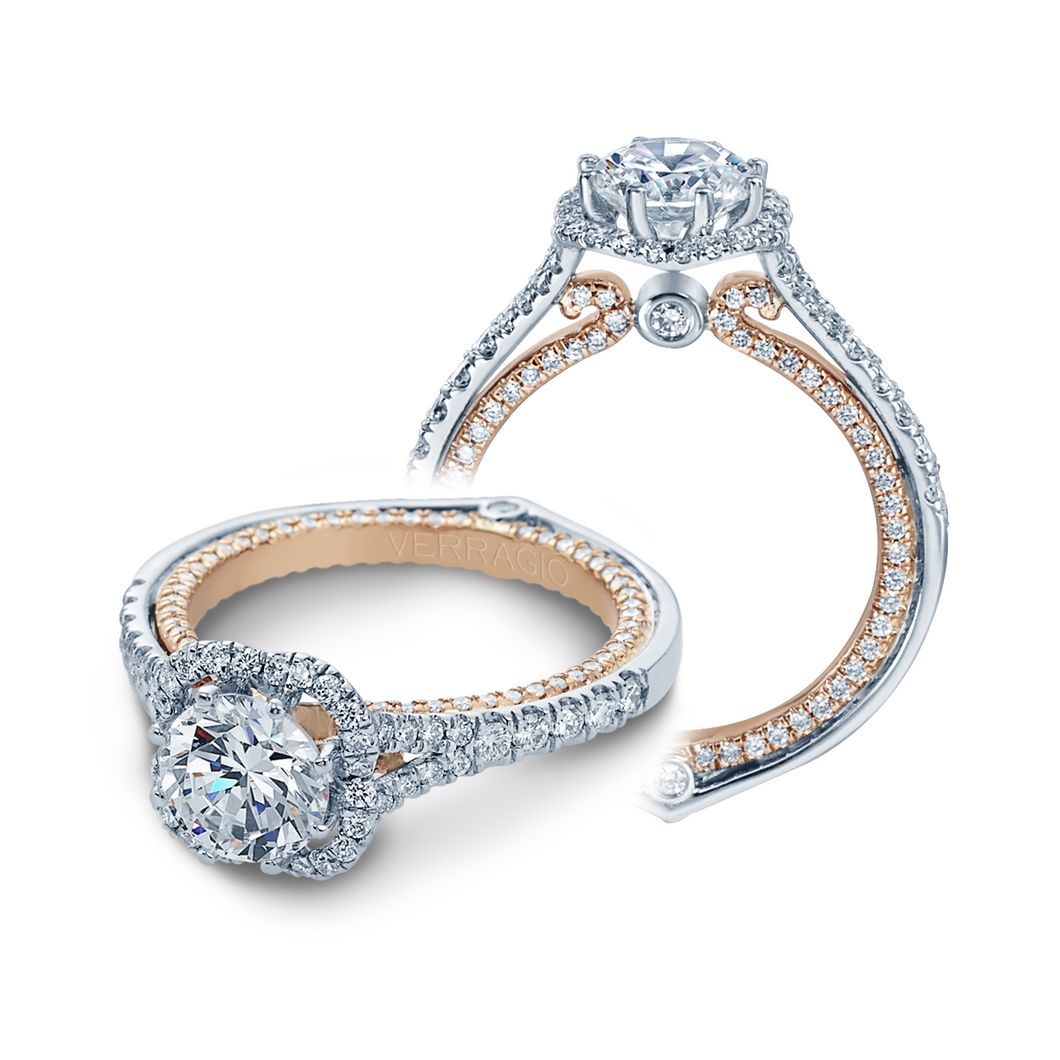ENG-0427DR Verragio 14K 0.75ctw Semi- Mount Engagement Ring