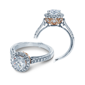 Verragio Couture Round Halo 0.70CTW Side-Diamond Engagement Ring ENG-0433DR-2T