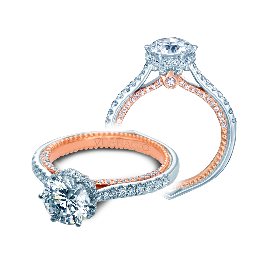 Verragio Round Diamond Center Engagement Ring Couture ENG-0458RD-2WR