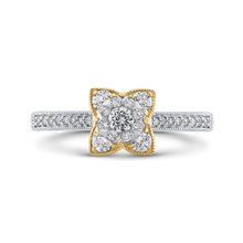 Load image into Gallery viewer, Round White Diamond Flower Style Fashion Ring Luminous ES0883ECT-42WY