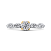 Load image into Gallery viewer, Round White Diamond Halo Fashion Ring Luminous ES0888ECT-42WY