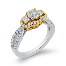 Load image into Gallery viewer, Two Tone Gold Criss-Cross Fashion Ring Luminous ES0889ECT-42WY