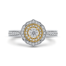 Load image into Gallery viewer, Round Diamond Floral Halo Fashion Ring Luminous ES0901ECT-42WY