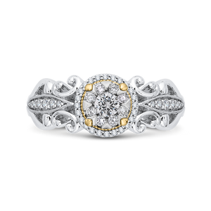 White Diamond Double Halo Fashion Ring Luminous ES0905ECT-42WY