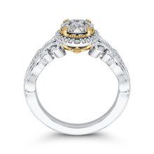 Load image into Gallery viewer, White Diamond Double Halo Fashion Ring Luminous ES0905ECT-42WY