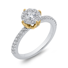 Load image into Gallery viewer, 7/8 ct Round Diamond Halo Fashion Ring Luminous ES0907ECT-42WY