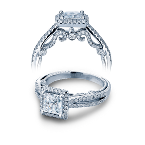 INS-7069P- Verragio - 14K 0.50ctw Semi- Mount Engagement Ring