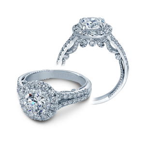 Verragio Insignia Round Halo Split Band 0.90CTW Size - Diamond Engagaement Ring INS-7062RL