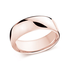 Pink high Polish Thick Plain Band J-308-08PG