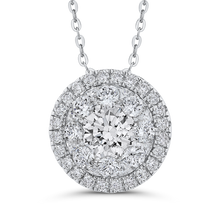 Load image into Gallery viewer, Round Diamond Halo Pendant with Chain Luminous LUPE0019-42W-2.00