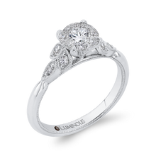 Load image into Gallery viewer, Round Diamond Engagement Ring Luminous LUR0097-42W-1.00