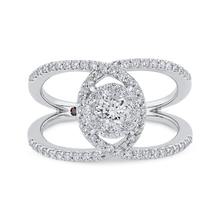 Load image into Gallery viewer, Round Diamond Fashion Ring Luminous LUR0237-42W-1.00