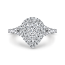 Load image into Gallery viewer, Round Diamond Pear Shape Double Halo Engagement Ring Luminous LURA0111-42W-.50