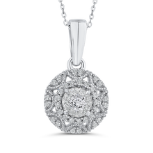 Load image into Gallery viewer, White Diamond Fashion Pendant with Chain Luminous PE1280T-42W
