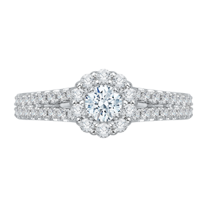 Split Shank Diamond Engagement Ring Promezza PR0011EC-02W
