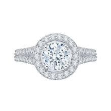Load image into Gallery viewer, Split Shank Round Diamond Engagement Ring Promezza PR0016EC-02W