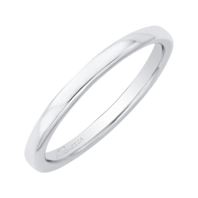 Load image into Gallery viewer, White Gold Plain Sleek Wedding Band Promezza PR0020B-W-.25