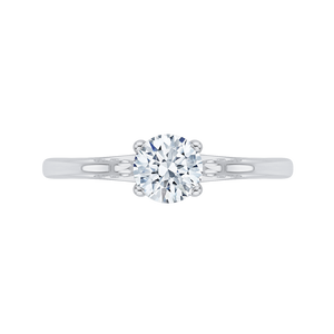 Solitaire Engagement Ring with Round Diamond Promezza PR0020EC-02W-.75