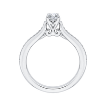 Load image into Gallery viewer, White Gold Round Diamond Engagement Ring Promezza PR0022EC-02W-.33