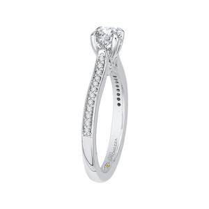 Round Cut Diamond Engagement Ring Promezza PR0022EC-02W-.50