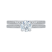 Load image into Gallery viewer, White Gold Engagement Ring with Round Cut Diamond Promezza PR0022EC-02W-.75