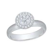 Load image into Gallery viewer, Plain Shank Round Diamond Halo Engagement Ring Promezza PR0029EC-02W