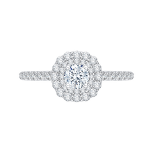Load image into Gallery viewer, Double Halo Engagement Ring with Round cut Diamond Promezza PR0032EC-02W