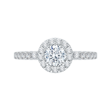 Load image into Gallery viewer, Round Cut Diamond Halo Engagement Ring Promezza PR0036EC-02W