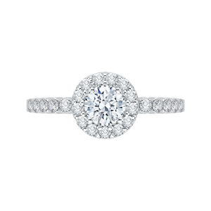 Round Cut Diamond Halo Engagement Ring Promezza PR0036EC-02W