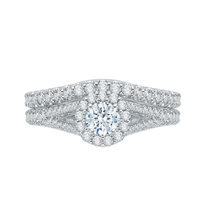 Split Shank Round Diamond Engagement Ring Promezza PR0056EC-02W