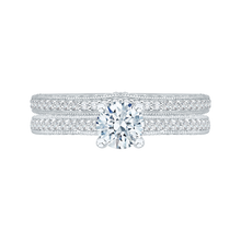 Load image into Gallery viewer, Cathedral Style Engagement Ring Promezza PR0068EC-02W