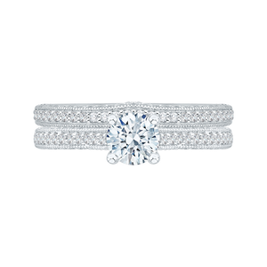 Cathedral Style Engagement Ring Promezza PR0068EC-02W