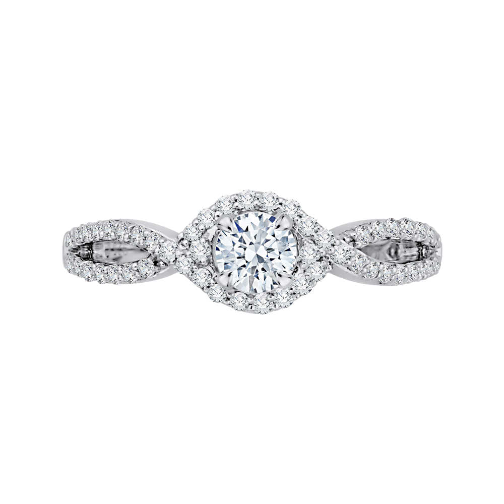 Split Shank Engagement Ring Promezza PR0077EC-44W-.50