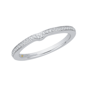 White Gold diamond Wedding Band Promezza PR0078B-44W