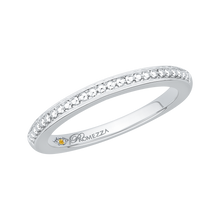 Load image into Gallery viewer, Plain White Gold Wedding Band Promezza PR0080B-W