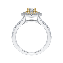 Load image into Gallery viewer, Two-Tone Gold Double Halo Engagement Ring Promezza PR0085EC-44WY