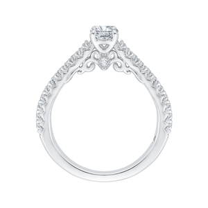 Cathedral Style Round Diamond Engagement Ring Promezza PR0086EC-44W