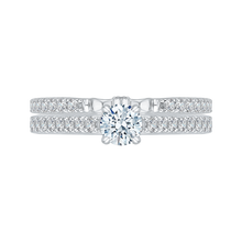 Load image into Gallery viewer, Cathedral Style Round Diamond Engagement Ring Promezza PR0086EC-44W