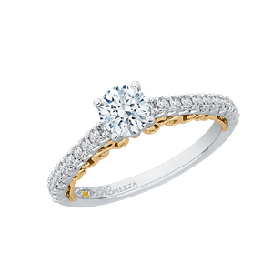 Round Cut Diamond Engagement Ring Promezza PR0087EC-44WY