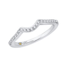 Load image into Gallery viewer, Curved Classic Diamond Wedding Band Promezza PR0089B-44W
