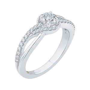 Split Shank Diamond Wedding Band Promezza PR0111ECH-44W-.33
