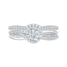 Load image into Gallery viewer, Split Shank Diamond Wedding Band Promezza PR0111ECH-44W-.33