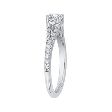Load image into Gallery viewer, Split Shank Diamond Engagement Ring Promezza PR0118ECH-44W-.50