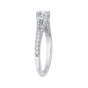 Split Shank Diamond Engagement Ring Promezza PR0118ECH-44W-.50